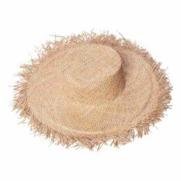 Beige Wicker Hat
