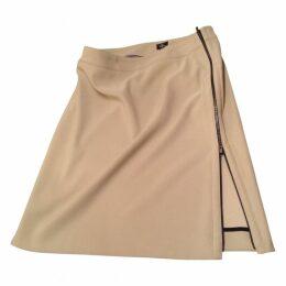 Beige Polyester Skirt