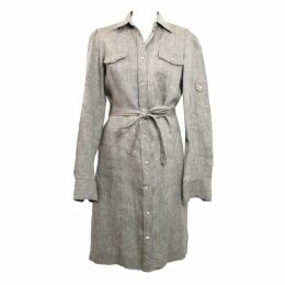 Linen mid-length dress