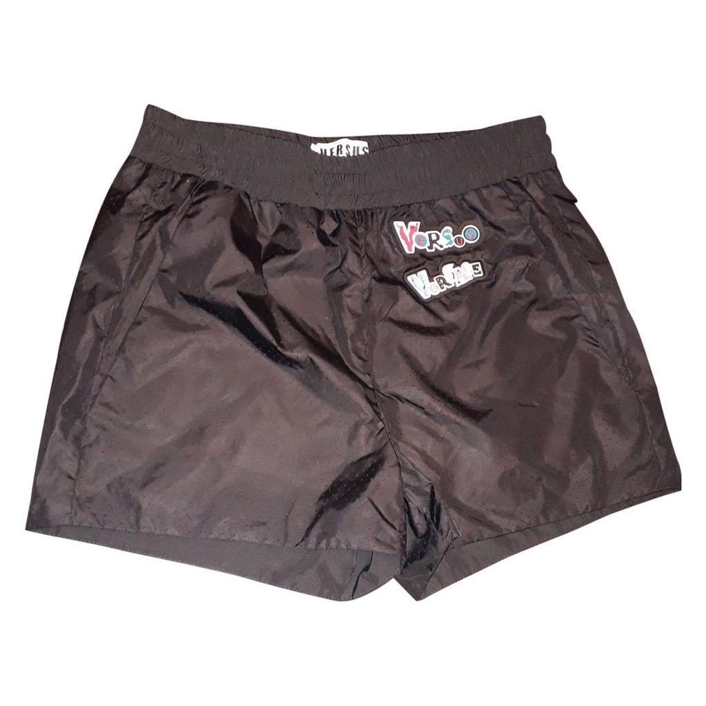 Black Polyester Shorts