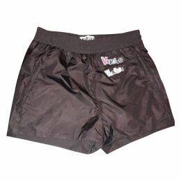Black Polyester Shorts