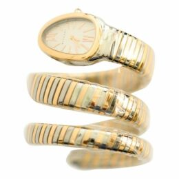 Serpenti yellow gold watch