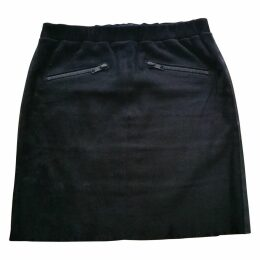 LEATHER AND SUEDE SKIRT