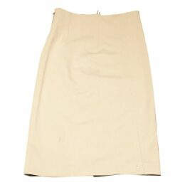 Beige Viscose Skirt