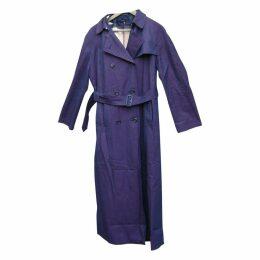 Purple Cotton Trench coat