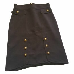 Brown Wool Skirt