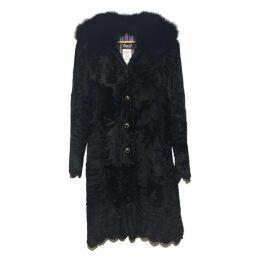 D & G black astrakan coat