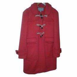 BRIGHT RED LONG DUFFLE COAT