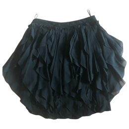 Ruffled silk skirt