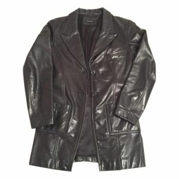 Anthracite Leather Coat