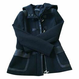Black leather Dufflecoat