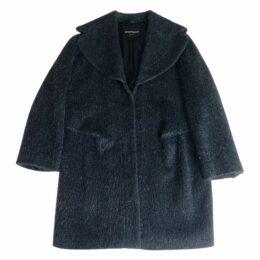 Emporio Armani - Cappottino lana mohair grigio antracite