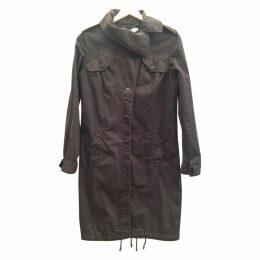 Black Cotton Trench coat