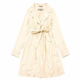White Polyester Coat