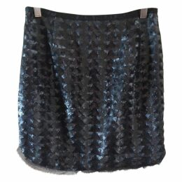 SEQUINNED LOOK SKIRT, SIZE 36