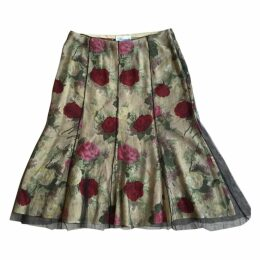 Silk and tulle skirt