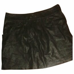 Iridescent leather skirt