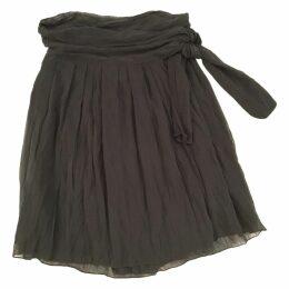 Wrap cotton silk skirt