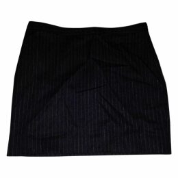 Grey wool pinstripe skirt