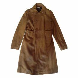 Caramel leather Marni coat