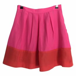 Bright Pink Skirt With Orange Stripe