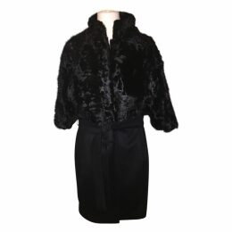 Karakul and cashmere coat
