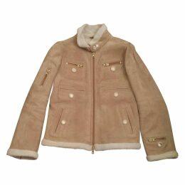 Beige Shearling Coat
