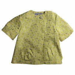 Yellow Vera Wang Brocade Coat