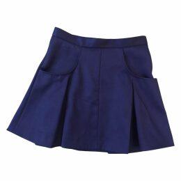 Purple Polyester Skirt