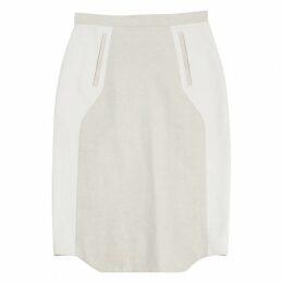 Ecru Linen Skirt