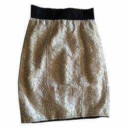 Beige Silk Skirt