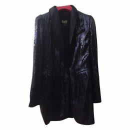 Sequins blue blazer - giacca in pailletes blu