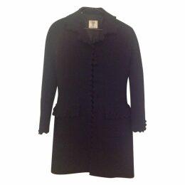 Valentino coat with scalloped e.