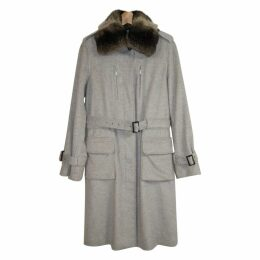 Cashmere Coat with Chinchilla Neck