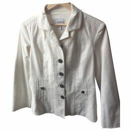 White cotton blazer