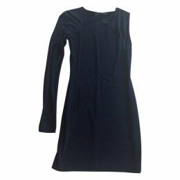 Black one shoulder sleeves black dress