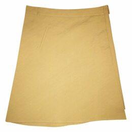 A-line cotton blend skirt
