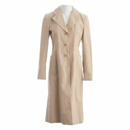 Beige Cotton Trench coat