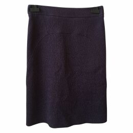Mid-length skirt, in wool