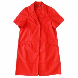 Red Cotton Trench coat