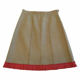 Medium length linen skirt