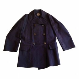 Blue Cotton Trench coat