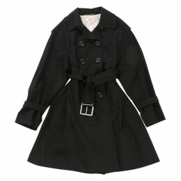 Black Cotton Trench coat