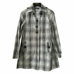 Grey Polyester Trench coat
