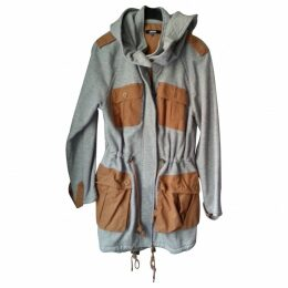 Grey Cotton Trench coat