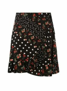 Womens **Ditsy Mix And Match Skirt- Red, Red