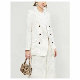 Corsage linen blazer