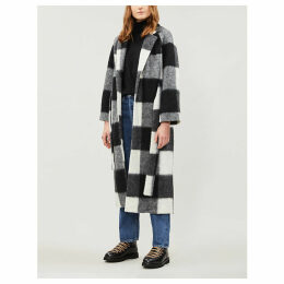 Mckinney checked wool-blend coat