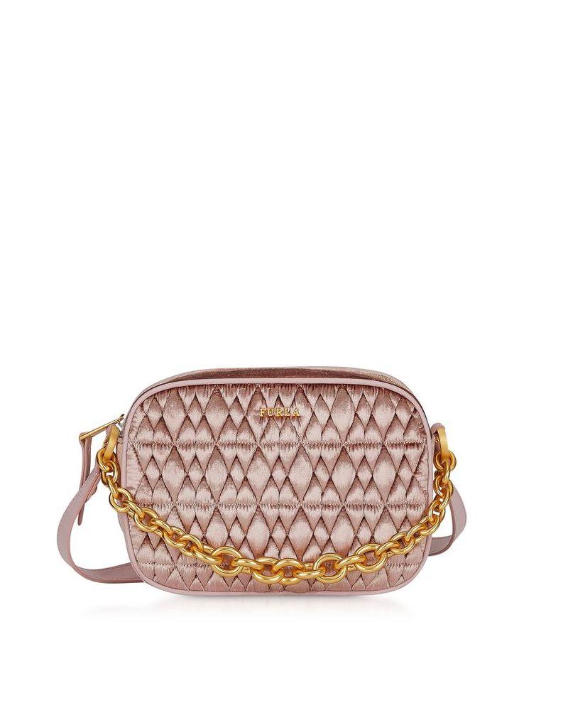 Furla Designer Handbags, Quilted Velvet Cometa Mini Crossbody Bag