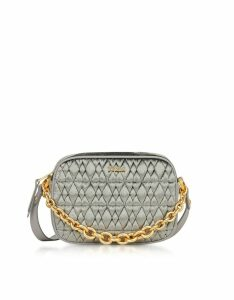 Furla Designer Handbags, Quilted Velvet Cometa Mini Crossbody Bag